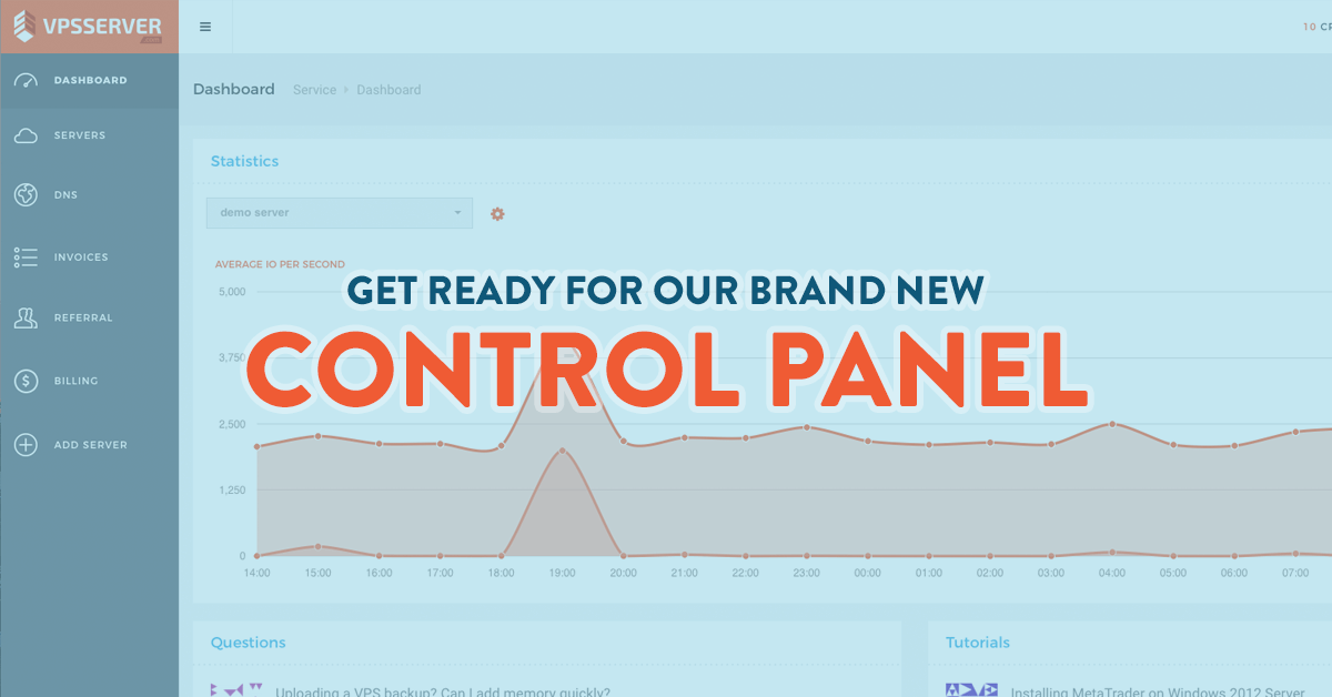 New control panel available