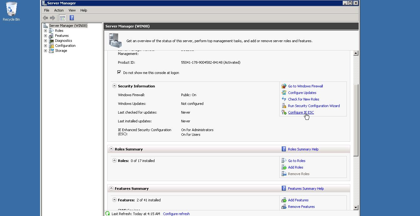 configure windows enhanced security