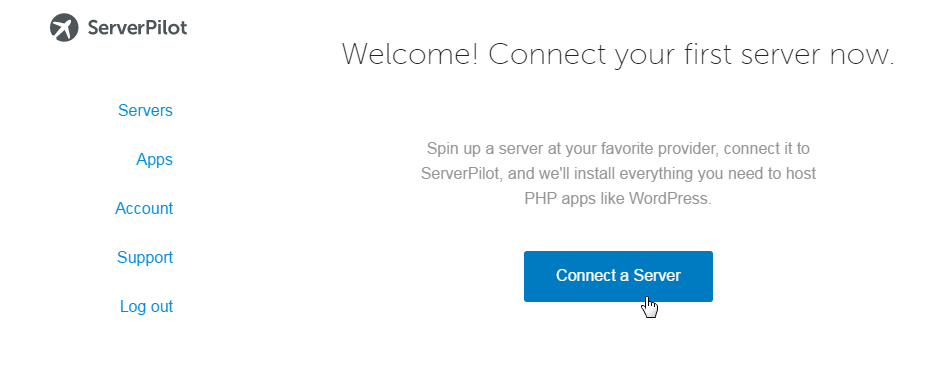 connect a server to ServerPilot