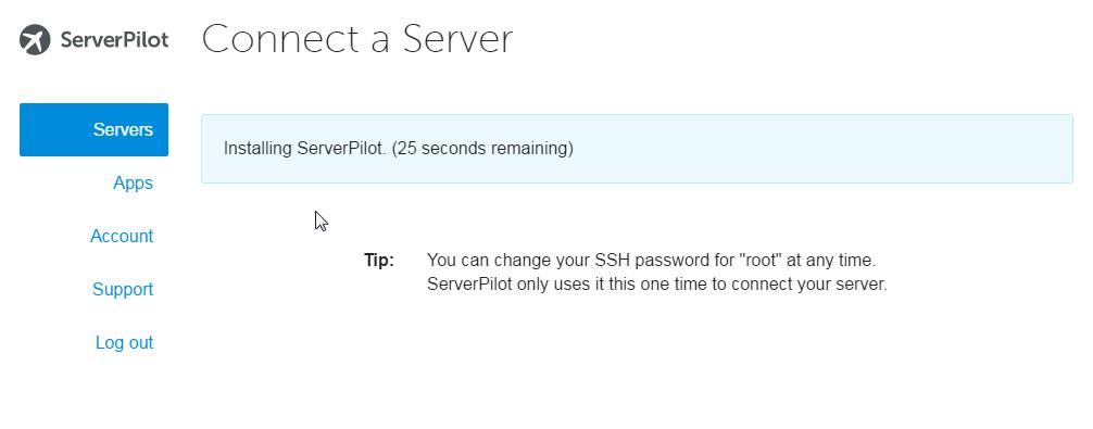 ServerPilot is installing