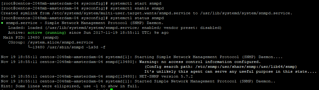 SNMP Master Agent setup on Centos 7 4 and Ubuntu 17 04